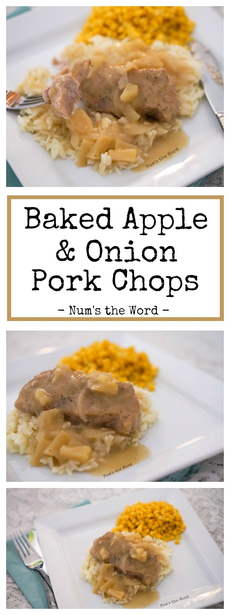 Baked Apple & Onion Pork Chops