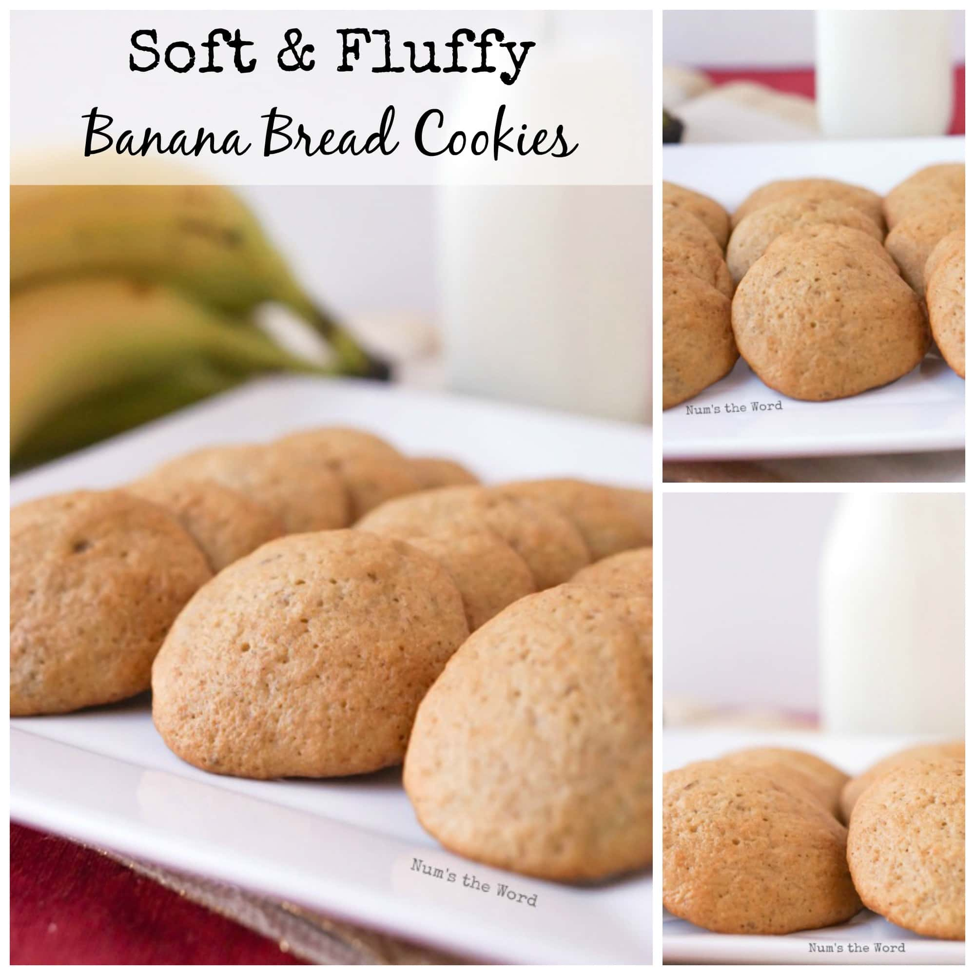 Soft & Chewy Banana Bread Cooies