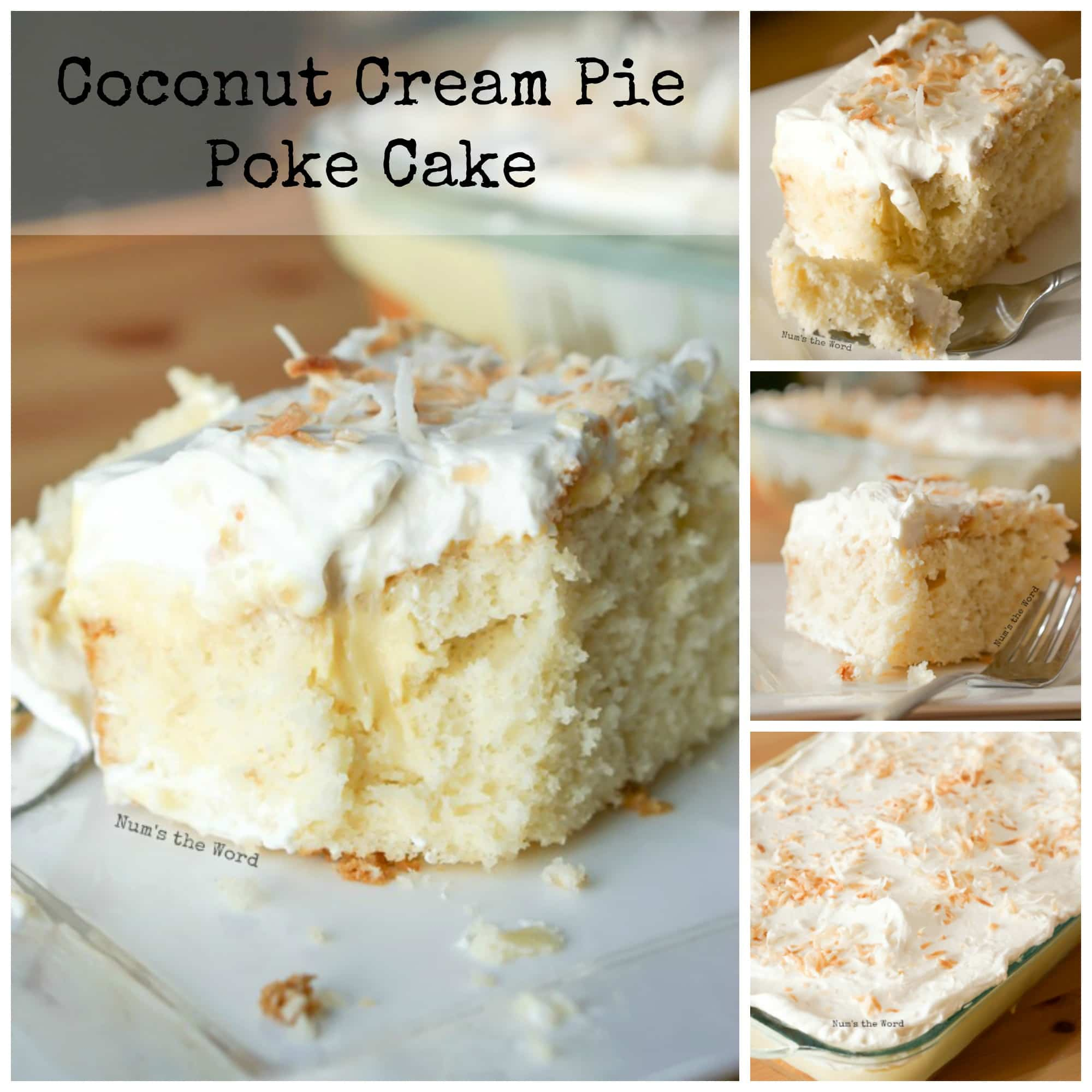 Coconut Cream Pie Poke Cake