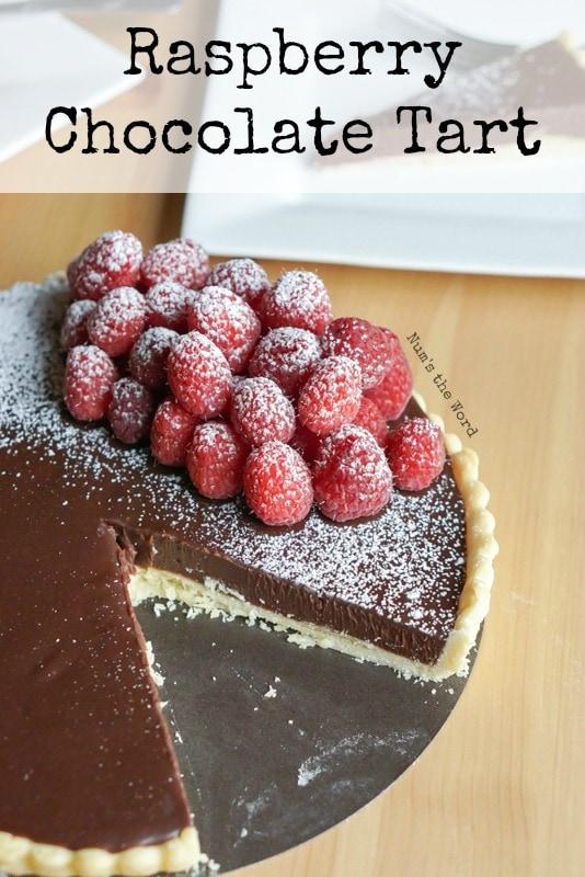 Raspberry Chocolate Tart - main image for recipe