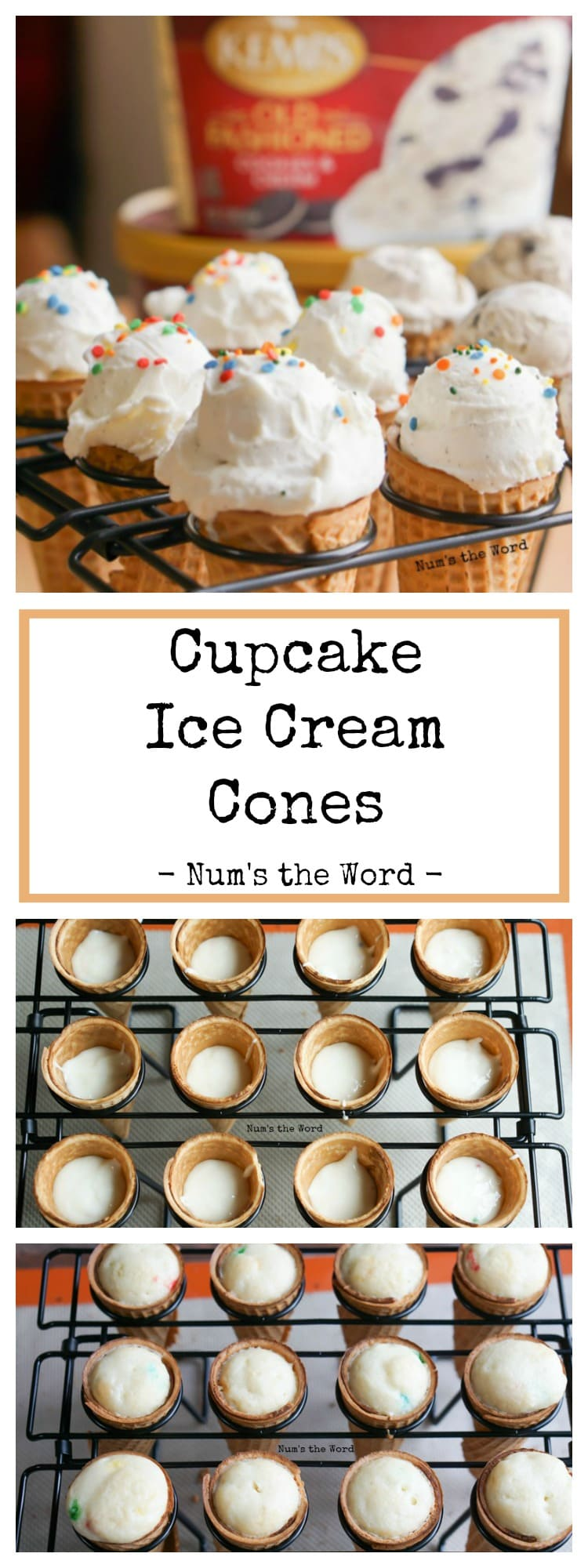 Cupcake Ice Cream Cones
