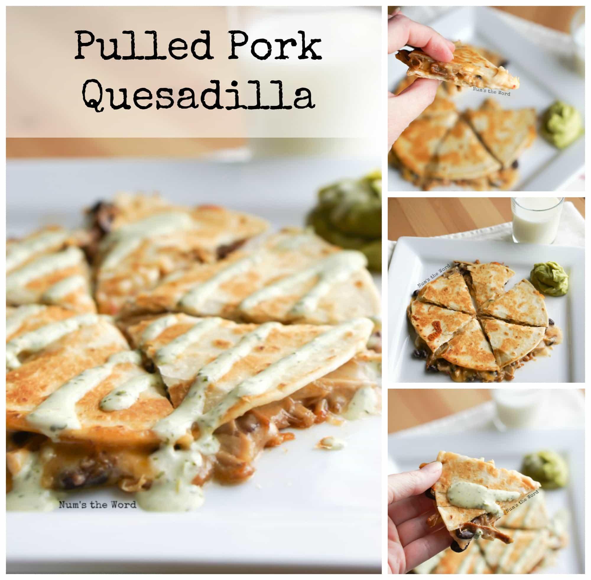 Pulled Pork Quesadilla - NumsTheWord