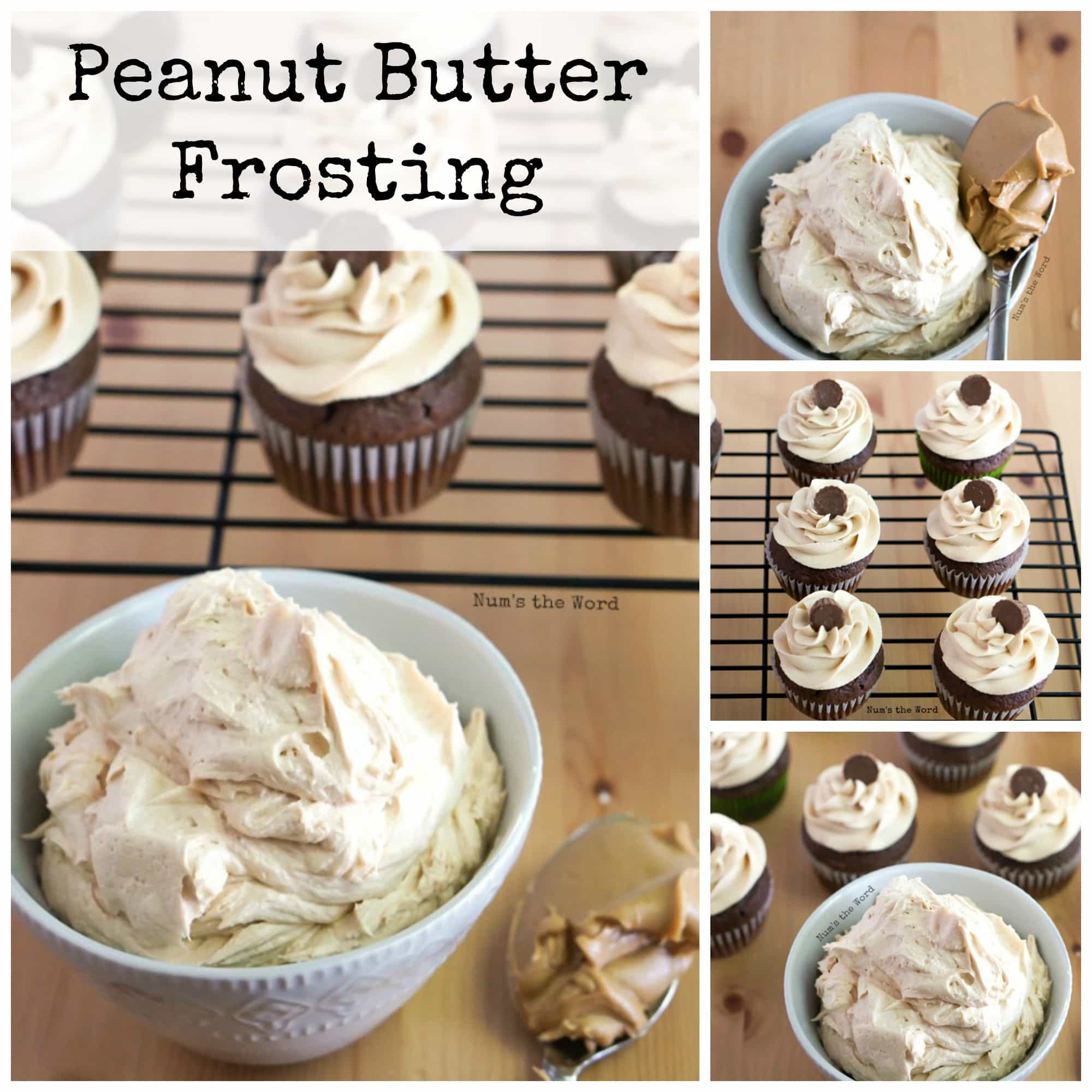 Peanut Butter Frosting Facebook Collage Photo