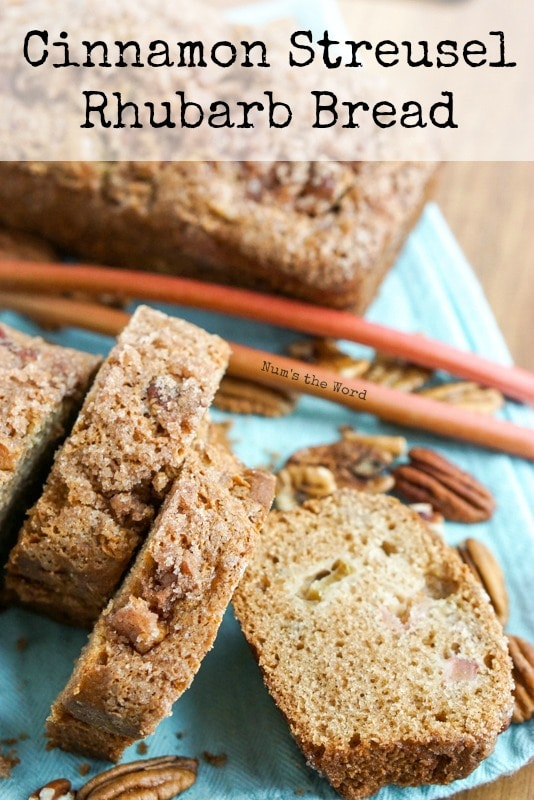 Cinnamon Streusel Rhubarb Bread - Main image for website