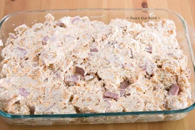 Ham & Hash Brown Breakfast Casserole -