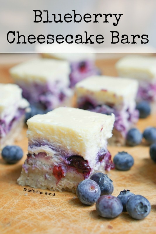 Blueberry Cheesecake Bars -