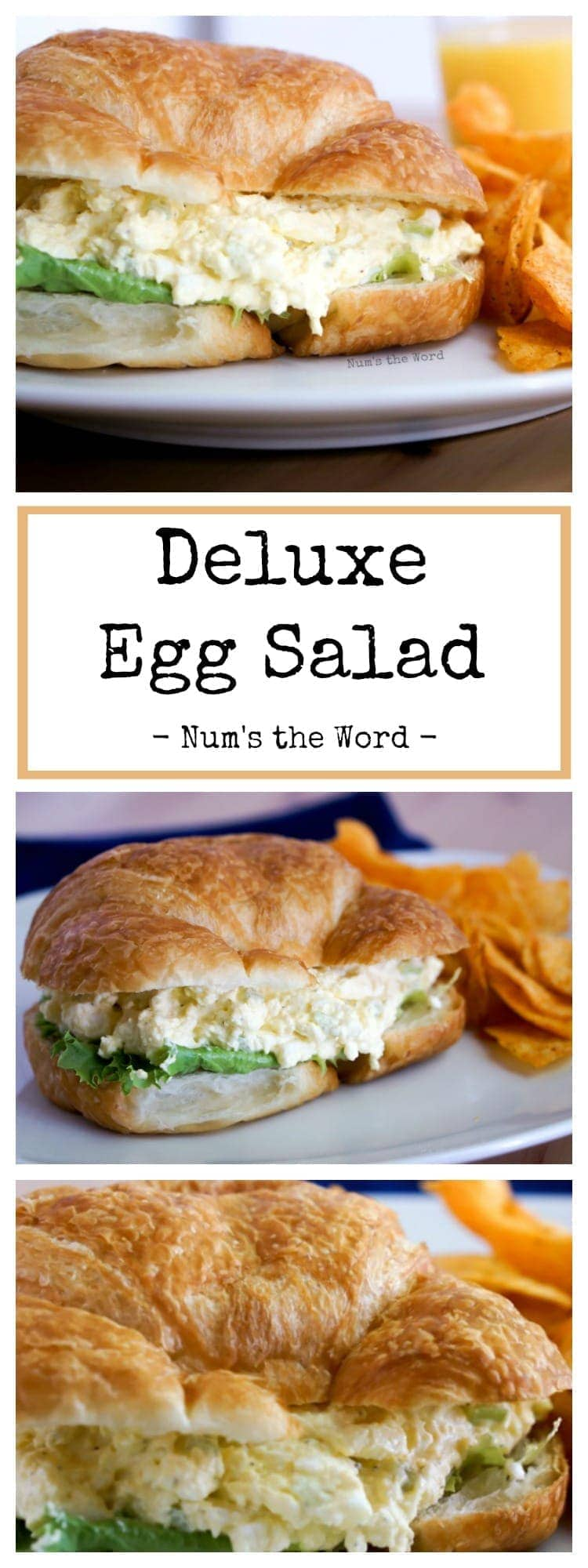 Deluxe Egg Salad - Pinterest long pin collage of photos
