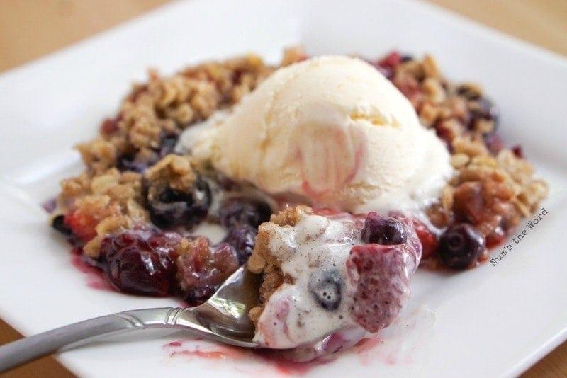 Strawberry Blueberry Crisp