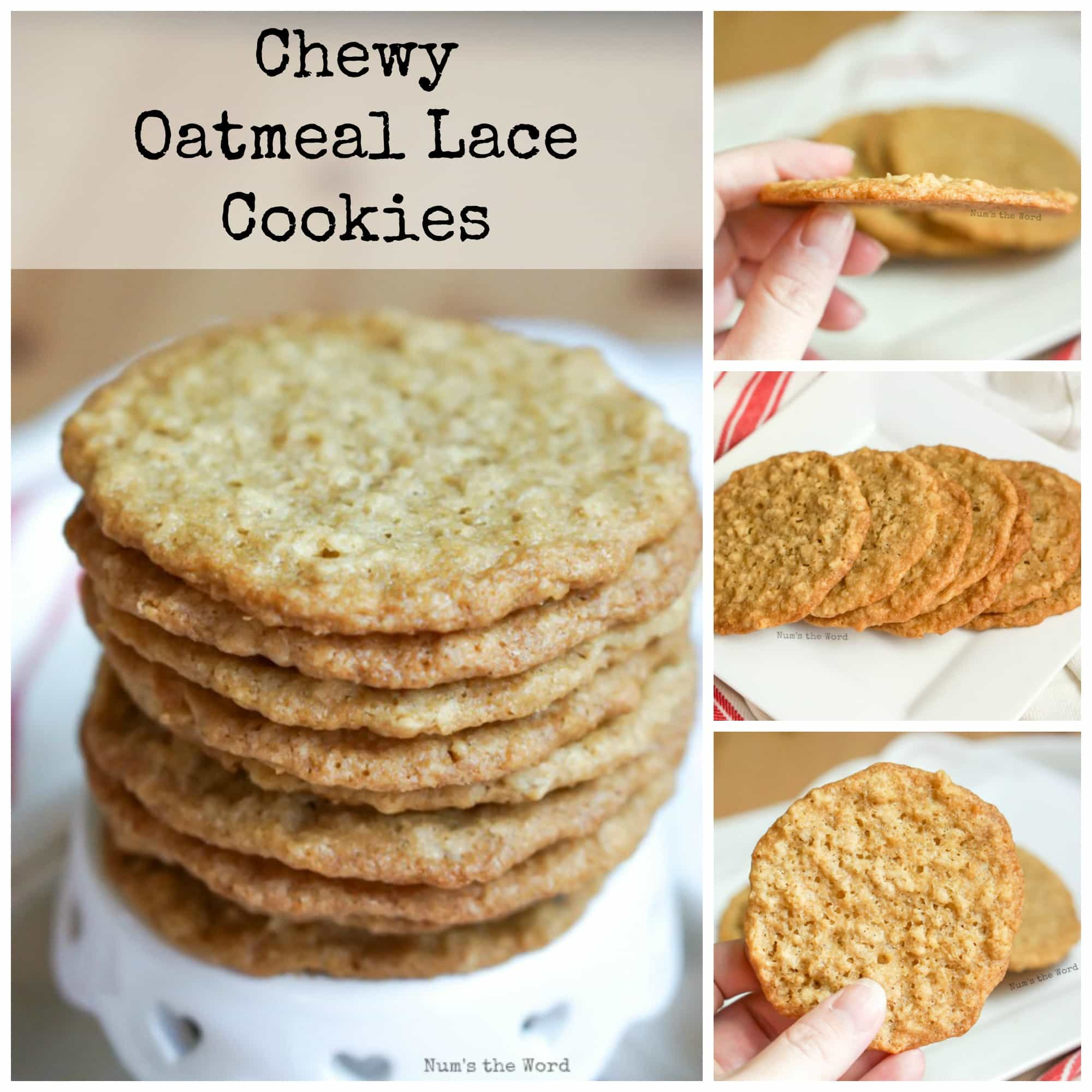 Chewy Oatmeal Lace Cookies - NumsTheWord