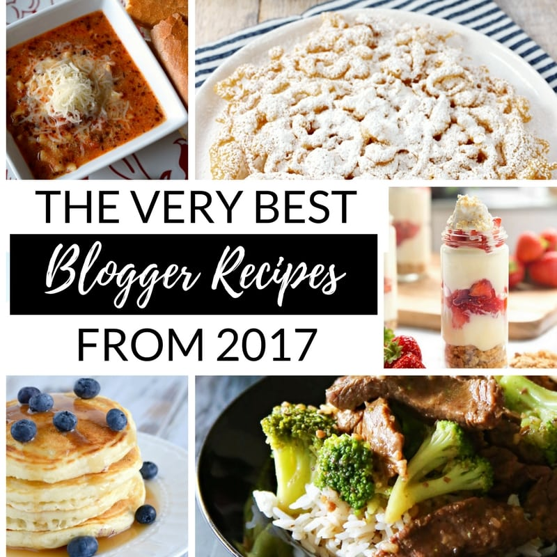 The Very Best Recipes on Pinterest of 2017 - square collage for Facebook