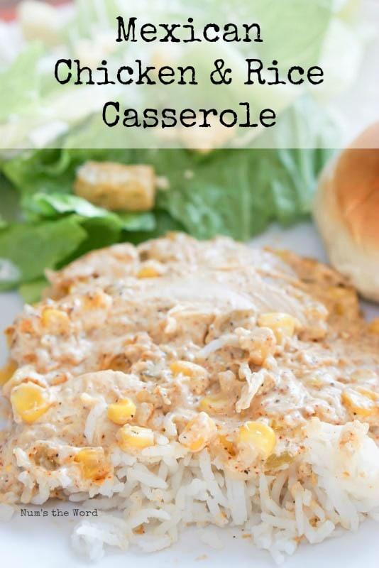 Mexican Chicken & Rice Casserole