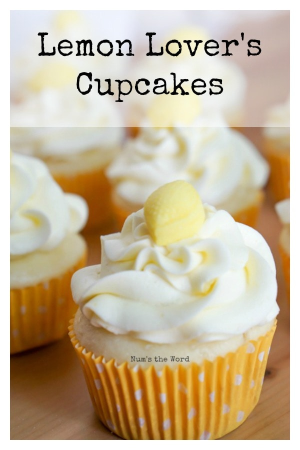Lemon Lover's Cupcakes - main image for recipe of finished cupcakes