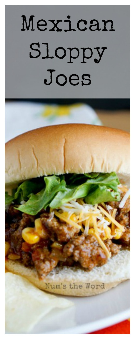Mexican Sloppy Joes - odd sized single image for Pinterest
