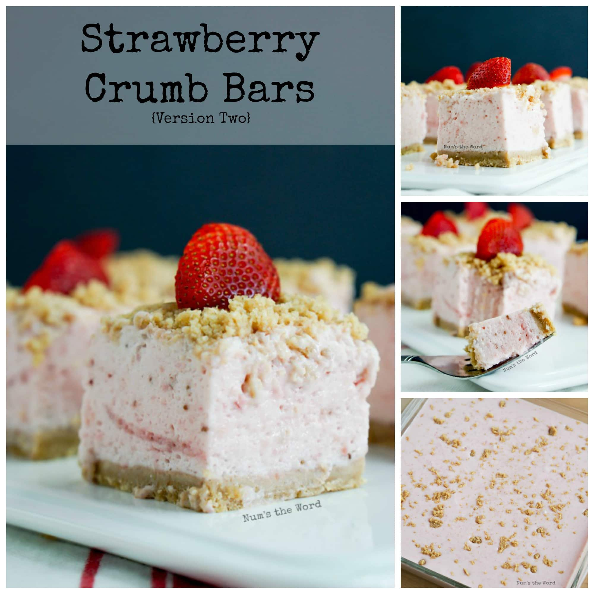 Strawberry Crumb Bars vs. 2 - Collage of images for Facebook