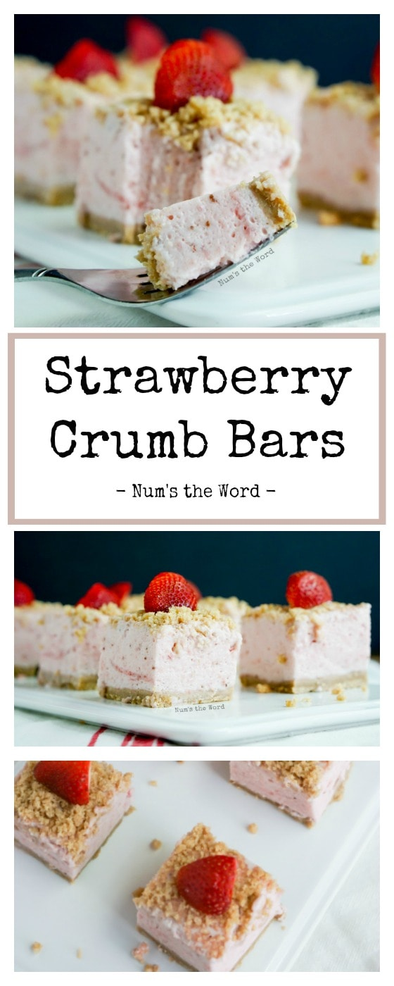Strawberry Crumb Bars vs. 2 - Collage of images for Pinterest long pin