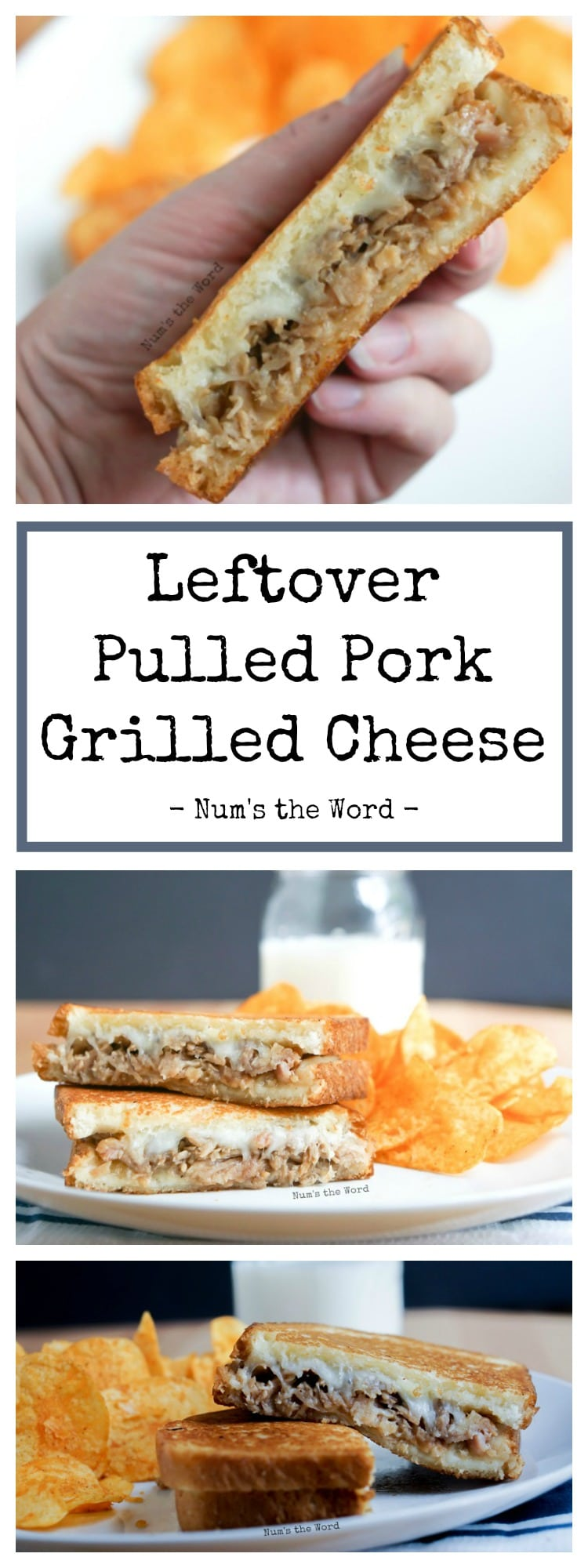 Leftover Pulled Pork Grilled Cheese