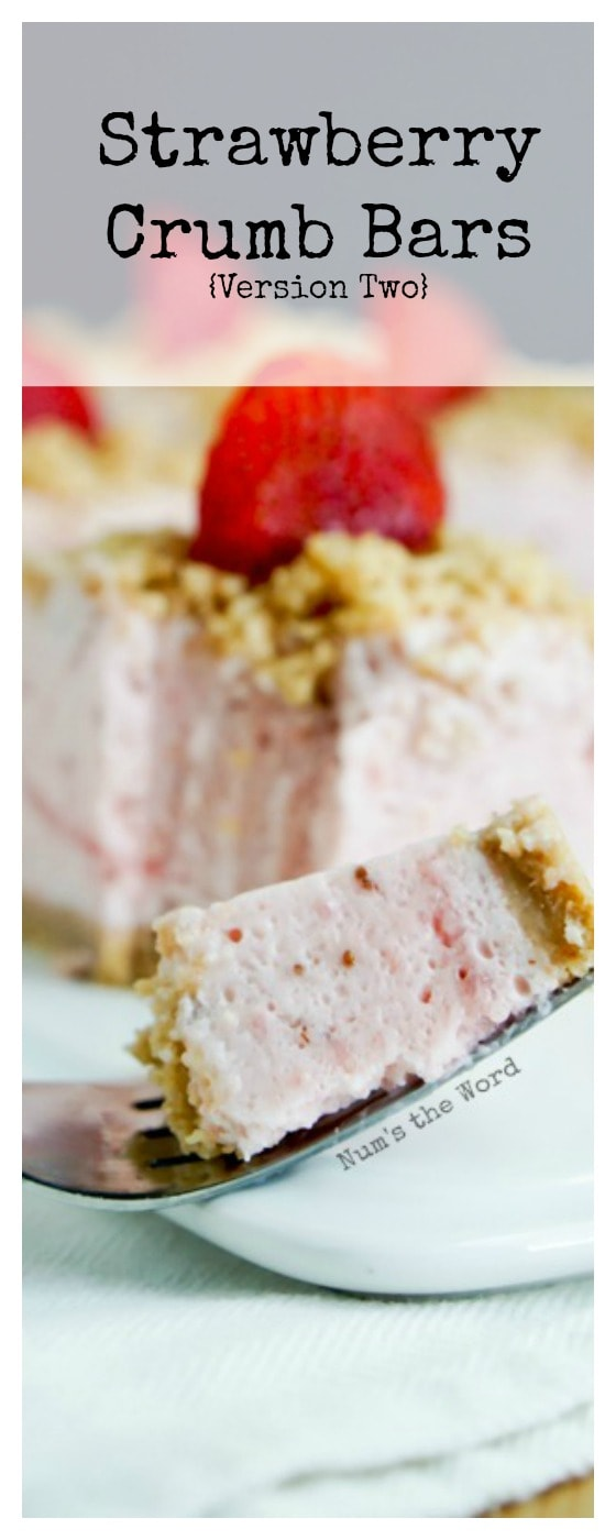 Strawberry Crumb Bars vs. 2 - odd sized single image for Pinteret