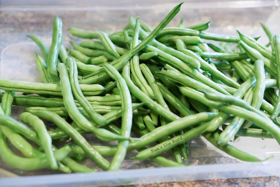 whole green beans unwashed