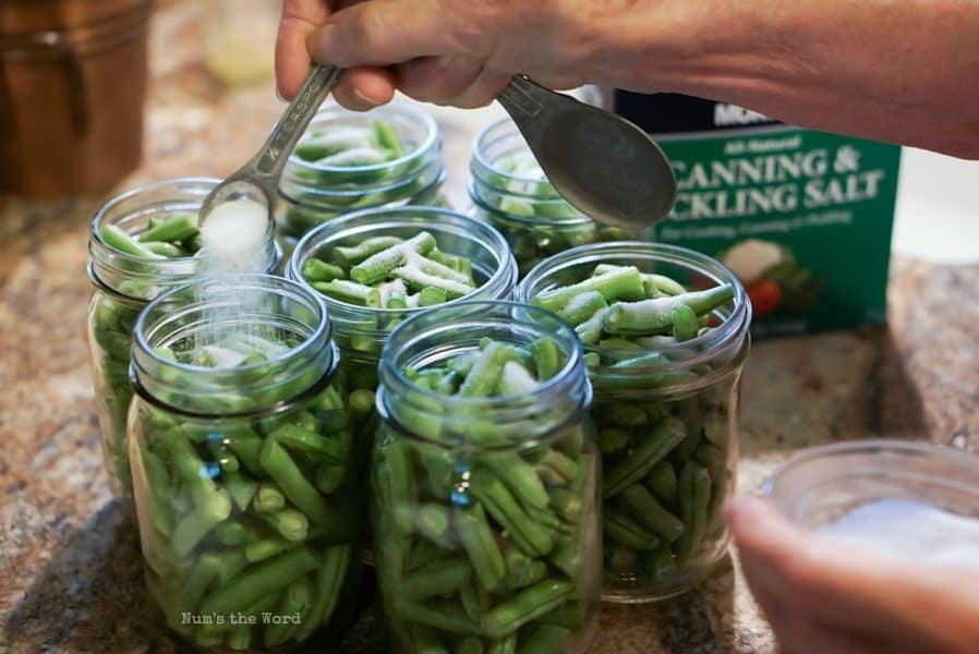 put canning salt in jars