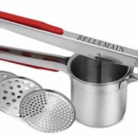 Top Rated Bellemain Stainless Steel Potato Ricer with 3 Interchangeable Fineness Discs-Full 2-Year Warranty