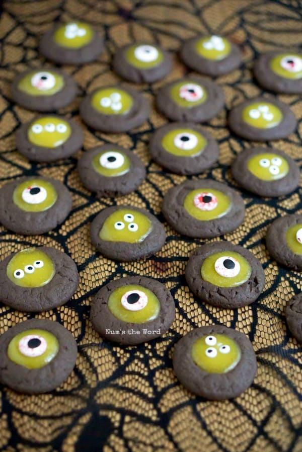 Monster Eye Ball Cookies