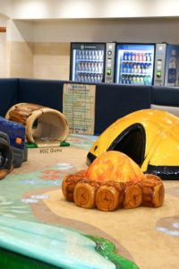 St. Cloud Mall Play Area - tunnel tent, pretend fire and tunnel log
