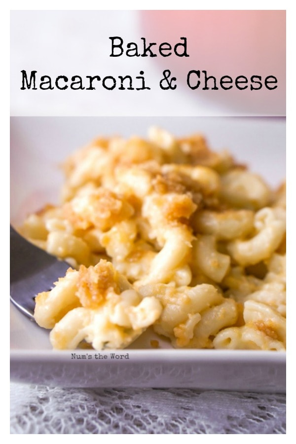 Baked Macaroni & Cheese - main image for recipe of macaroni & cheese on a plate