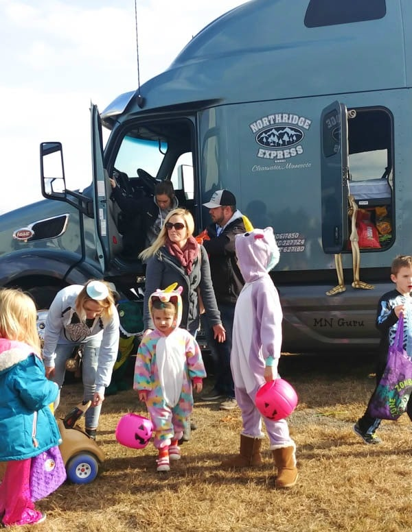 North Crest Trunk or Treat - checking out the semi truck