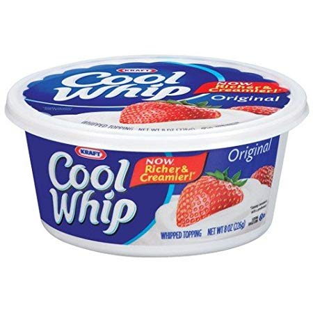 KRAFT COOL WHIP TOPPING 8 OZ PACK OF 3