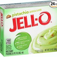 Jell-O Instant Pudding & Pie Filling, Pistachio, 3.4-Ounce Boxes (Pack of 24)