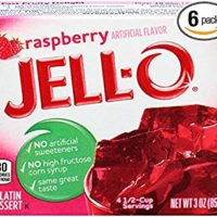 Jell-O Raspberry Gelatin Mix 3 Ounce Box (Pack of 6)