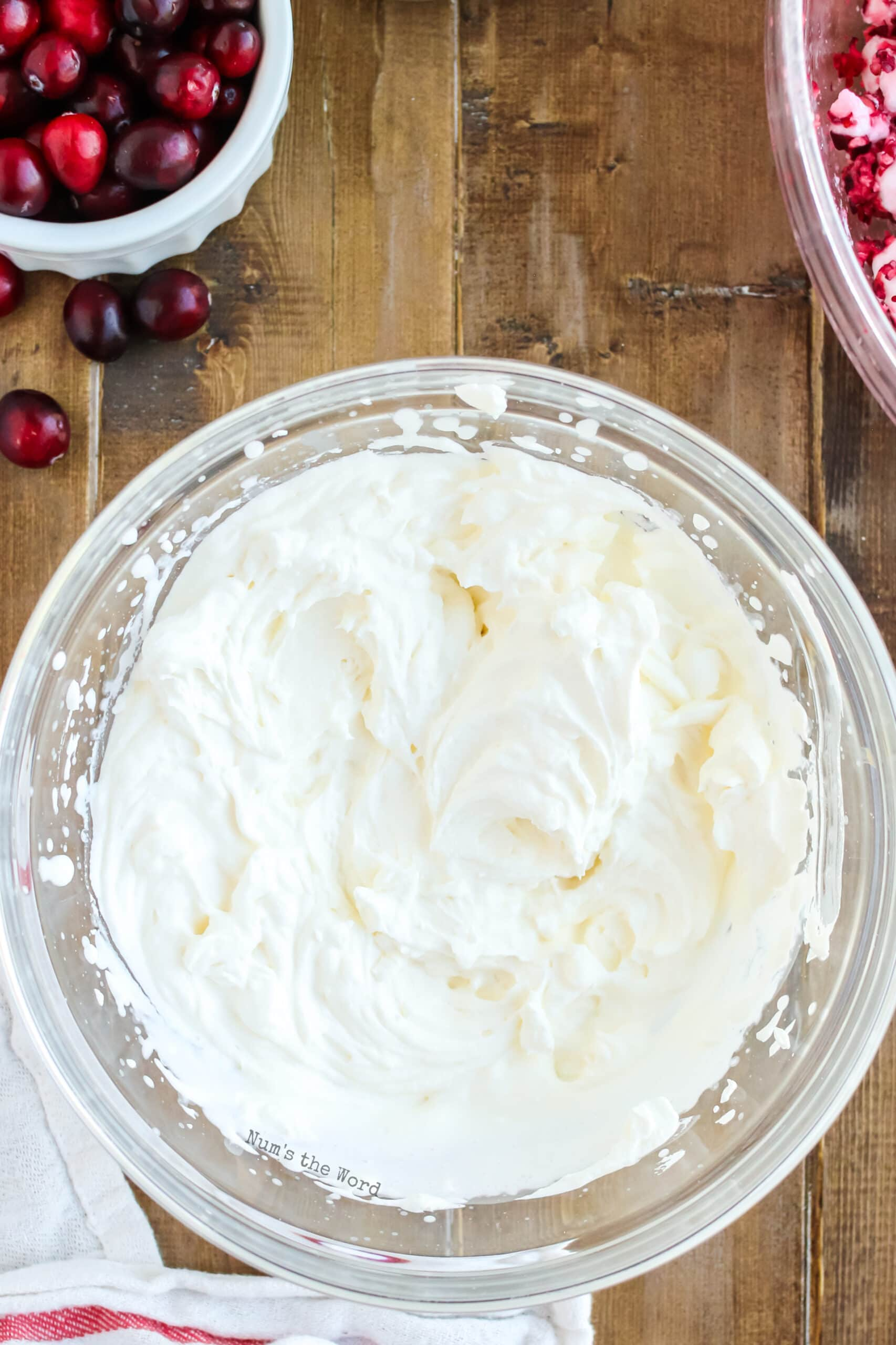 fresh whipped cream that has been whipped