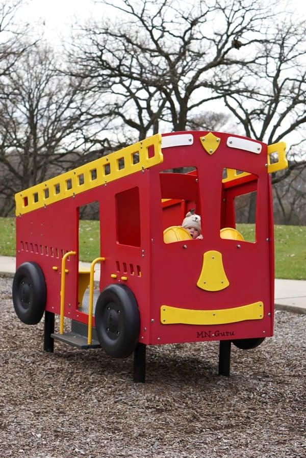 Riverside Regional Park - toy fire truck