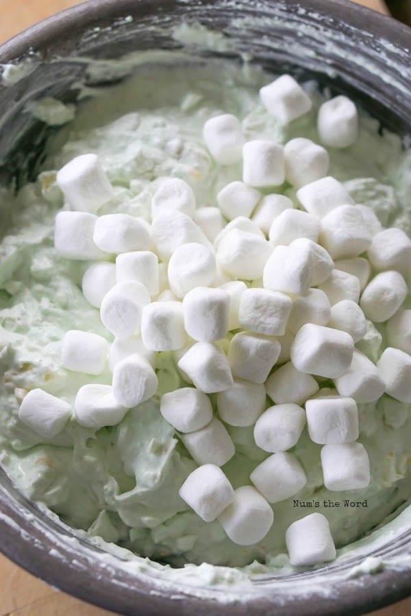 Pistachio Fluff - marshmallows added to fluff