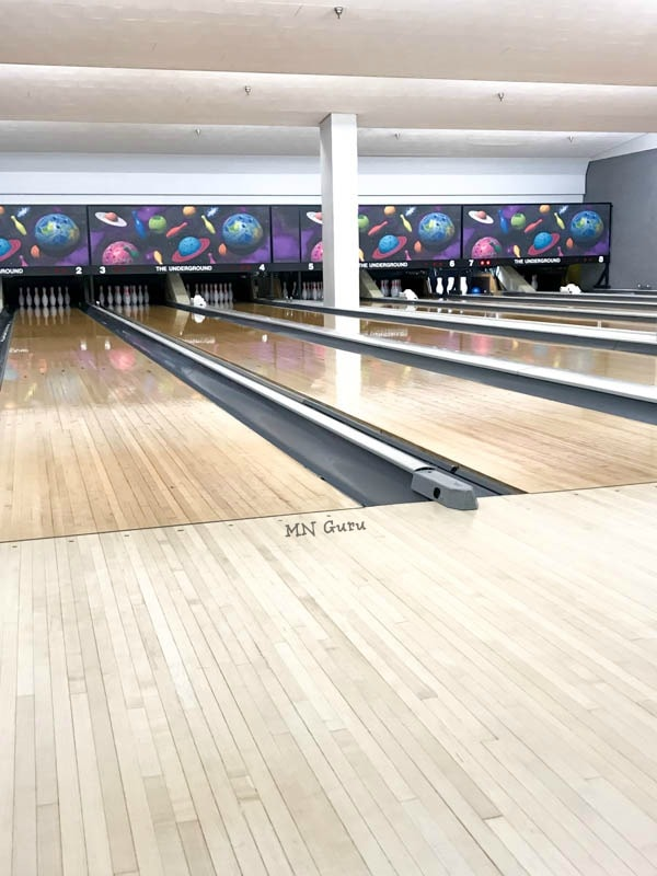 The Underground Bowling Alley - clean lanes ready for use