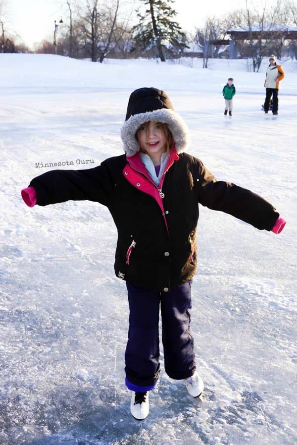 Ice Skating at Lake George - Enjoying a day of ice skating on the lake!