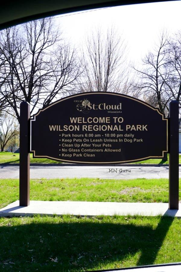 Main Park sign at entrance