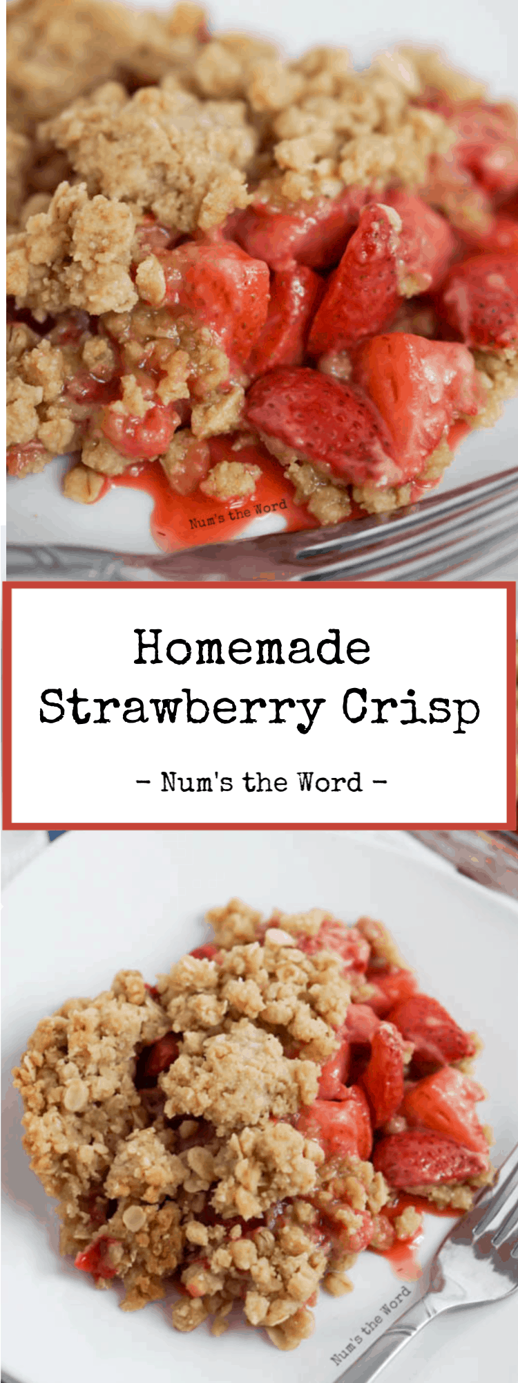 Homemade Fresh Strawberry Crisp Recipe Num S The Word