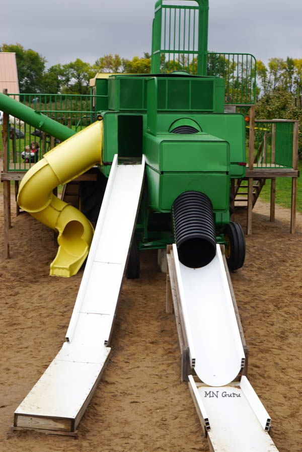Afton Apple Orchard - front side of tractor with 3 slides