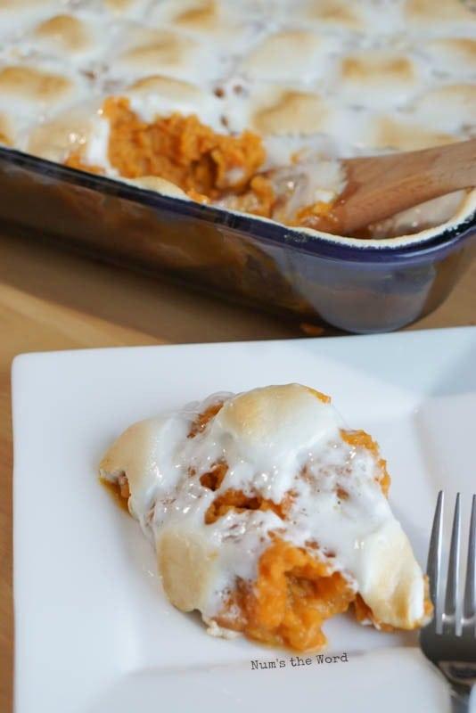 best sweet potato casserole, ready to eat!