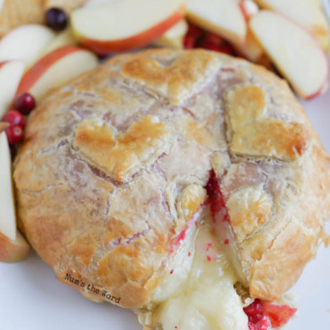 Cranberry Baked Brie in Puff Pastry image