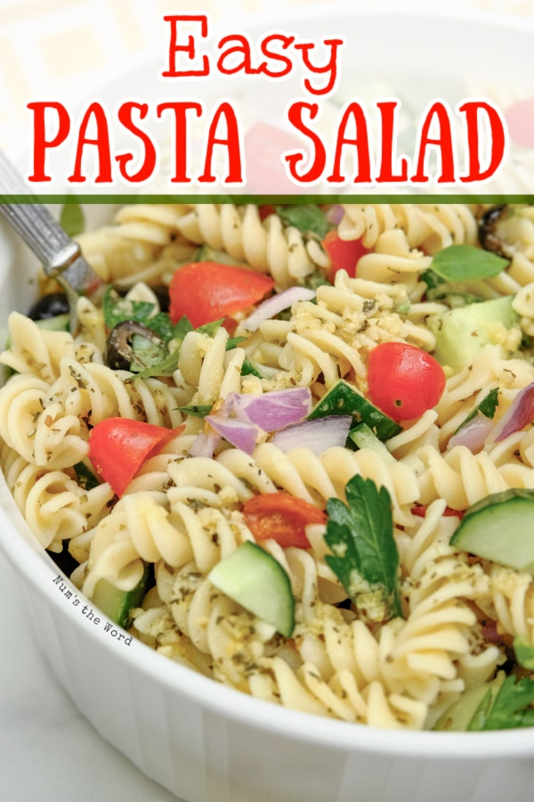 Pasta Salad - main image for recipe of salad in a bowl