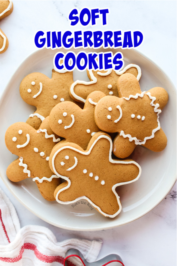 main image for recipe of gingerbread cookies on a plate facing the right