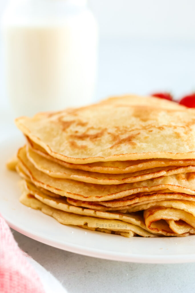Stack of pancakes ready to be eaten