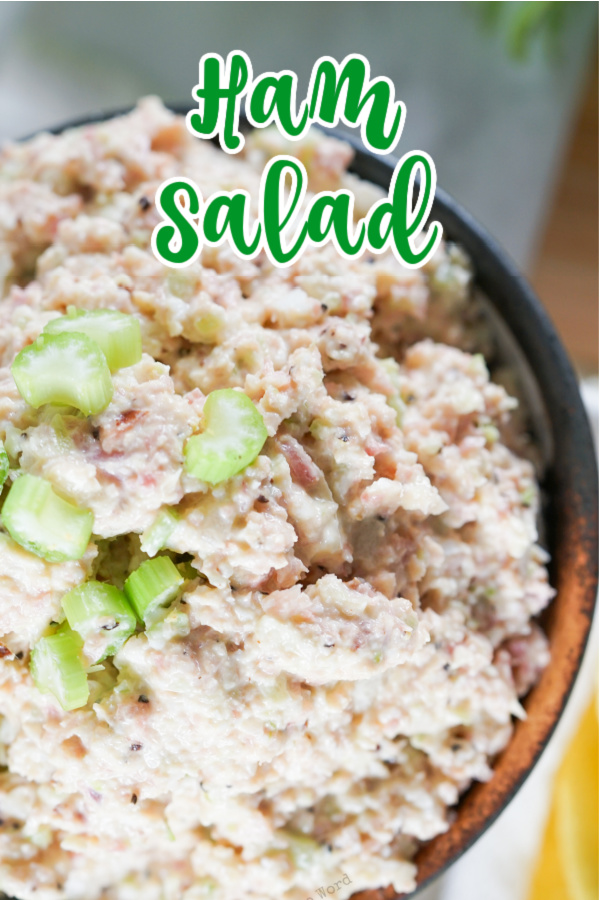 main image for recipe of ham salad in a bowl.