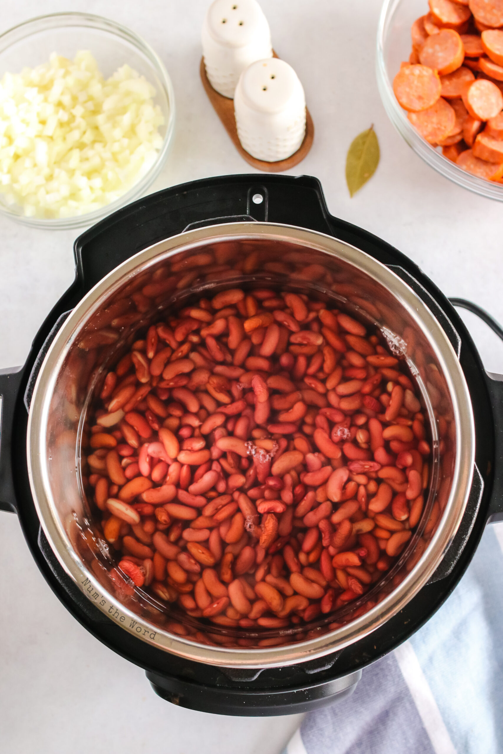 Red beans ready to be cooked from dried to delicious!