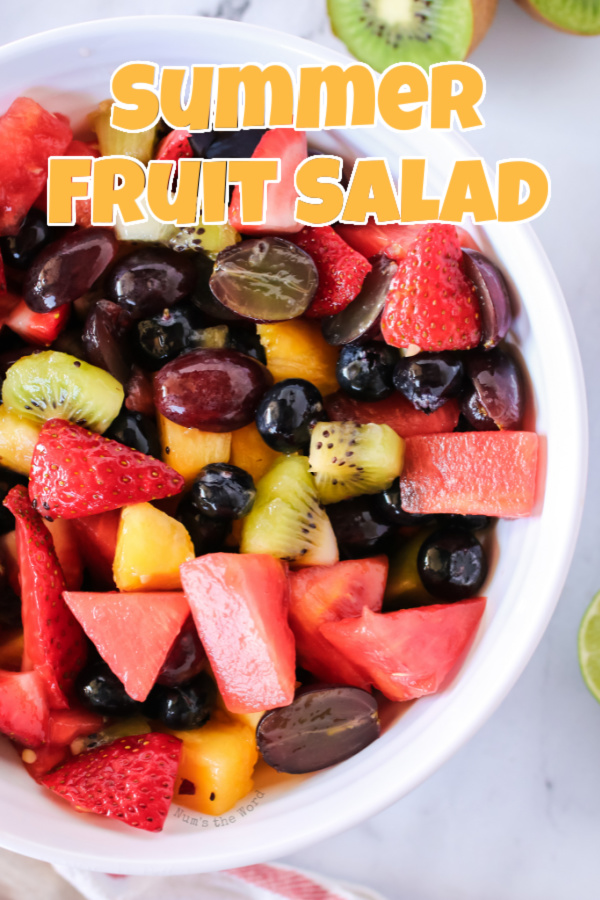 main image for recipe of summer fruit salad in a bowl.