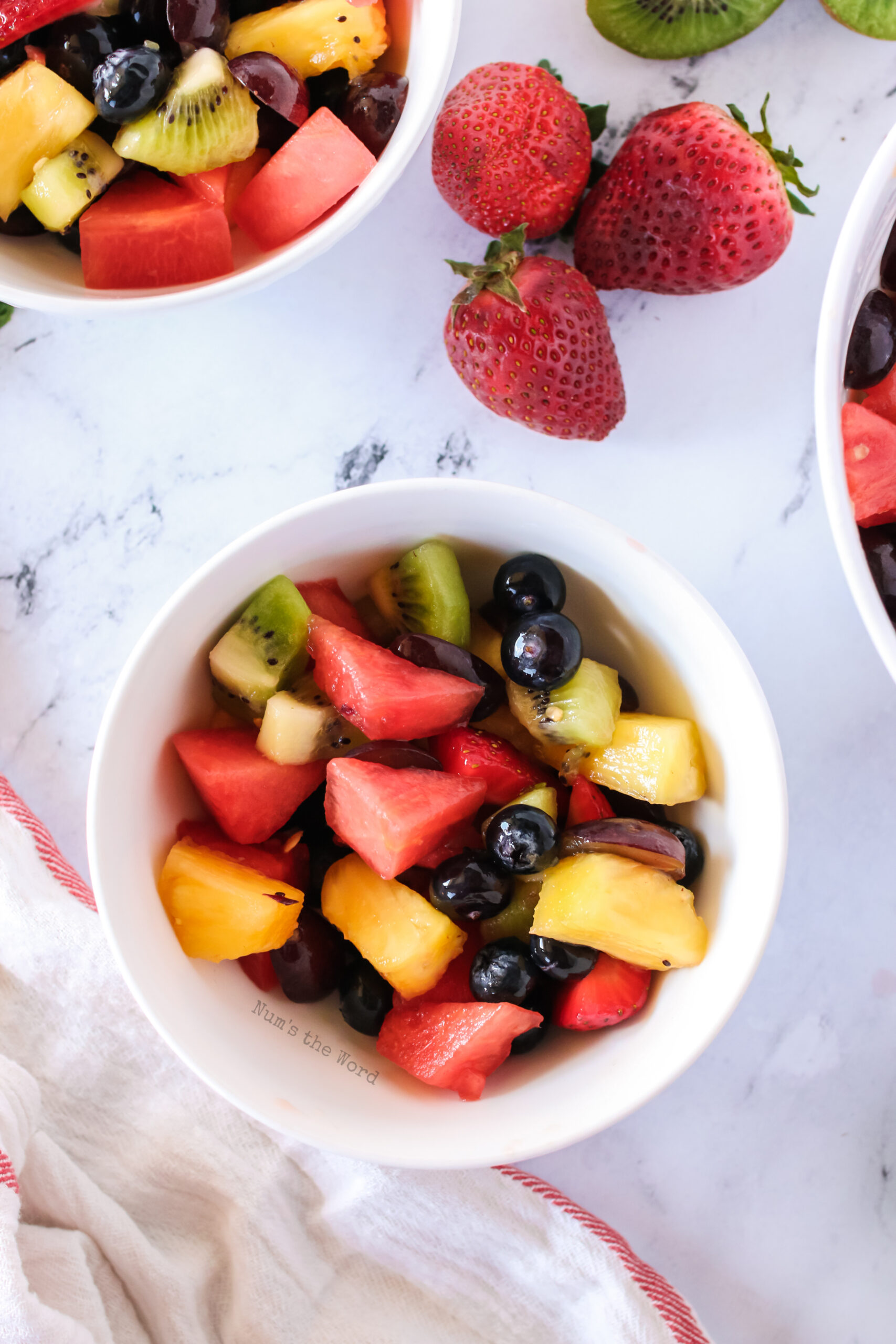 single bowl of fruit salad to enjoy